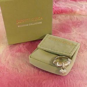 Sterling Silver Judith Ripka Charm Ring